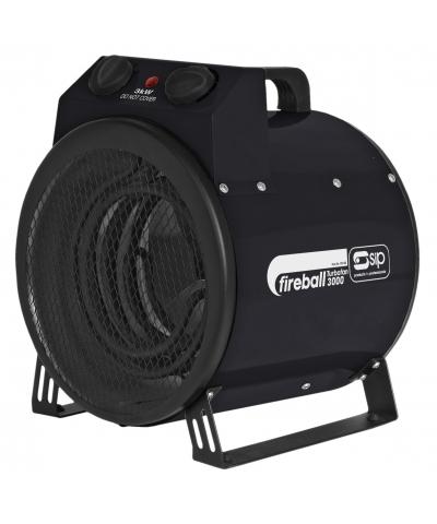 SIP 09160 Fireball Turbofan 3000 3kw Electric Space heater 230V