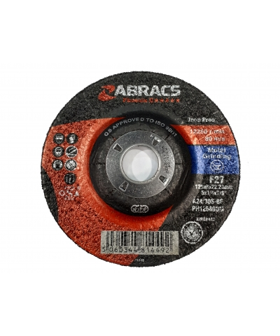 ABRACS Phoenix II 125mm x 6mm metal grinding disc pk of 10