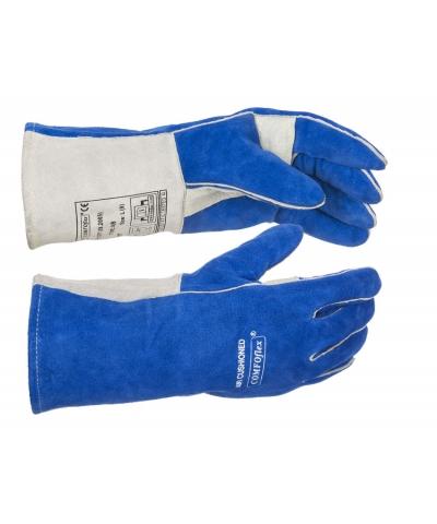 Weldas Blue Welding Gauntlet, COMFOflex® (10-2087) Large