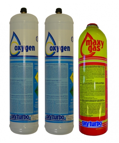 Oxyturbo Oxygen and Maxy Gas Cylinder Package