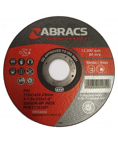 ABRACS Phoenix II 115mm x 1mm Extra Thin Metal Cutting Disc pk of 10