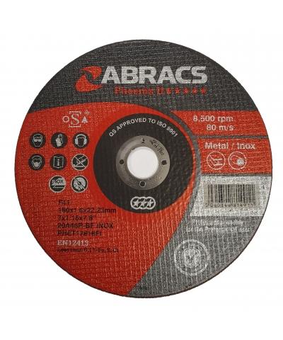 ABRACS Phoenix II 178mm x 1.6mm Extra Thin Metal Cutting Disc pk of 50
