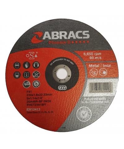 ABRACS Phoenix II 230mm x 1.8mm Extra Thin Metal Cutting Disc pk of 10