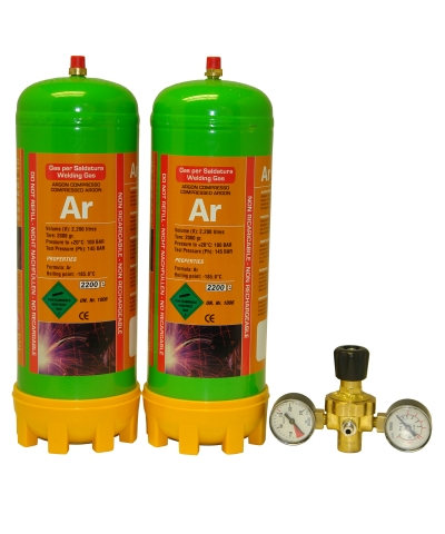 Argon Disposable Gas Cylinder & Regulator Package