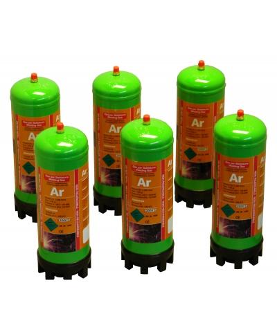 Argon Disposable Gas Bottles - 6pk