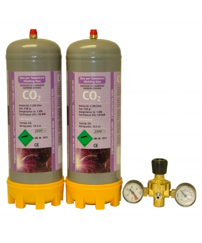 Co2 Disposable Gas Cylinder & Regulator Package