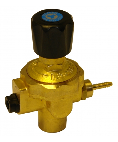 Regulator for use with Disposable Oxygen Gas Bottles