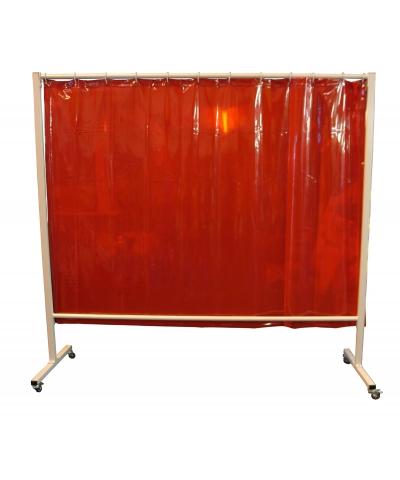 Cepro Omnium Welding Screen with Orange Curtain