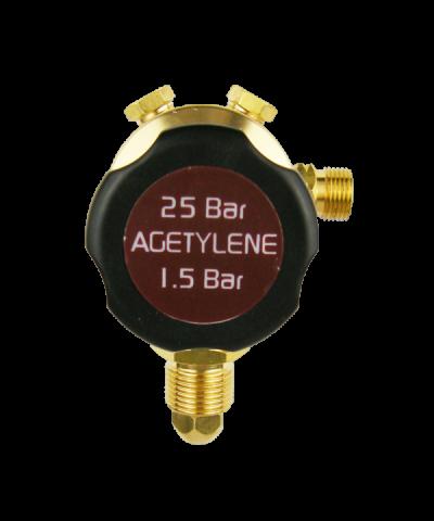 Parweld Single Stage Plugged Acetylene Gas Regulators 25 Bar E700101