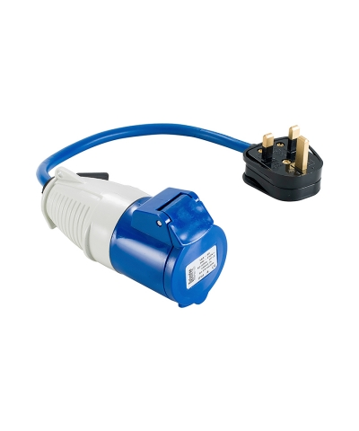 Defender 240v Fly Lead 13amp plug to 16amp socket E85301