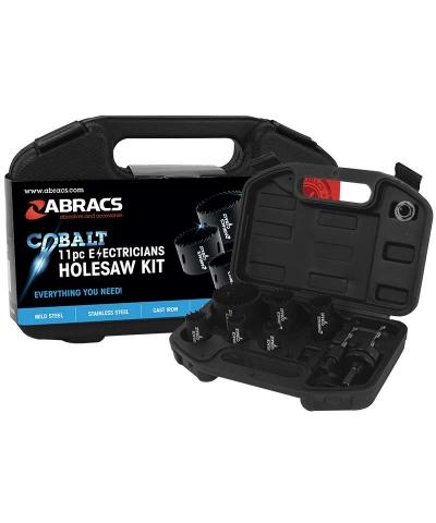 ABRACS 11 Piece Electricians Cobalt Holesaw Kit