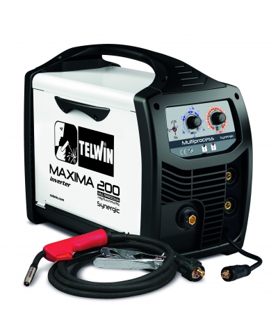 Telwin Maxima 200 Synergic Multi Process Welder (Refillable Cylinder Kit)