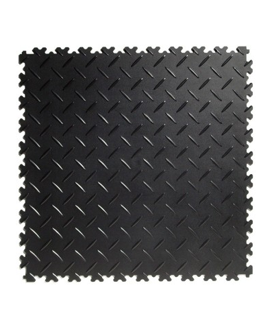 Flexi-tile Black Recycled 4mm soft (commercial) Diamond