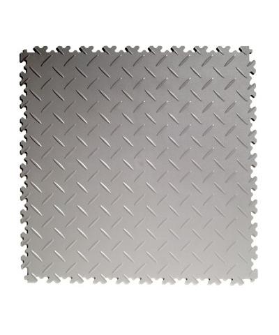 Flexi-Tile Light Grey Elite 4mm soft (commercial) Diamond