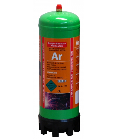 Argon Disposable Gas Cylinder