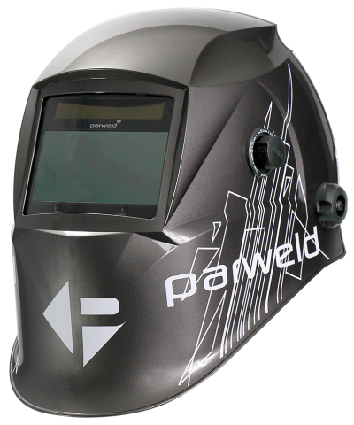 Parweld XR938H Large View Light Reactive Welding and Grinding Helmet - Grey