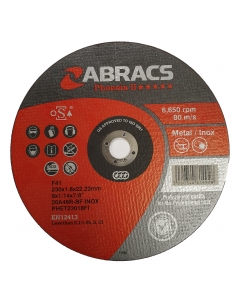 ABRACS Phoenix II 230mm x 1.8mm Extra Thin Metal Cutting Disc pk of 25