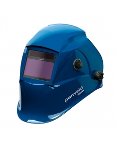 Parweld XR938H Large View Light Reactive Welding and Grinding Helmet - Blue