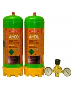 Argon/CO2 Disposable Gas Cylinder & Regulator Package