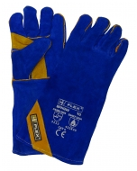 B-Flex Blue/Gold Welders Gauntlet